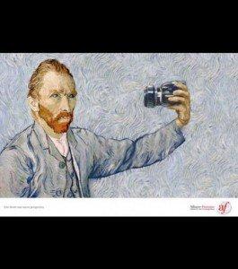 Quand la pub rencontre l'art..... dans divers un-autoportrait-de-van-gogh-donne-naissance-a-une-publicite-pour-l-alliance-francaise_58600_w460-265x300